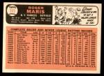 1966 Topps #365  Roger Maris  Back Thumbnail
