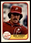 1981 Fleer #640 THR Mike Schmidt  Front Thumbnail