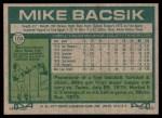1977 Topps #103  Mike Bacsik  Back Thumbnail
