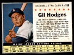 1961 Post #168 BOX Gil Hodges   Front Thumbnail