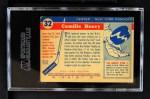 1954 Topps #32  Camille Henry  Back Thumbnail
