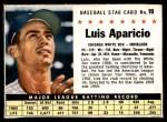 1961 Post #19 BOX Luis Aparicio   Front Thumbnail