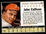 1961 Post #123 BOX Johnny Callison  Front Thumbnail