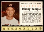 1961 Post #61 BOX Johnny Temple   Front Thumbnail