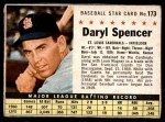 1961 Post #173 BOX Daryl Spencer   Front Thumbnail