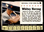 1961 Post #88 BOX Whitey Herzog   Front Thumbnail