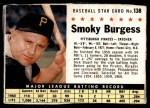 1961 Post #138 BOX Smoky Burgess  Front Thumbnail