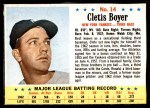 1963 Post #14  Clete Boyer  Front Thumbnail