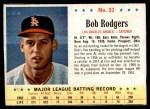 1963 Post #31  Bob Rodgers  Front Thumbnail