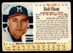 1963 Post #154 ERR Bob Shaw  Front Thumbnail