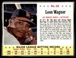 1963 Jello #28  Leon Wagner  Front Thumbnail