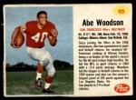 1962 Post #105  Abe Woodson  Front Thumbnail