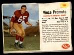 1962 Post #196  Vince Promuto  Front Thumbnail