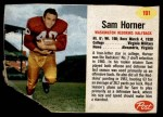 1962 Post #191  Sam Horner  Front Thumbnail