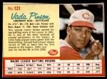 1962 Post #121  Vada Pinson   Front Thumbnail