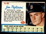 1962 Post #63  Jim Pagliaroni   Front Thumbnail