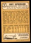 1968 Topps #98  Gary Sutherland  Back Thumbnail