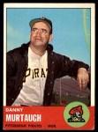 1963 Topps #559  Danny Murtaugh  Front Thumbnail