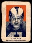 1952 Wheaties #1 POR Glenn Davis  Front Thumbnail