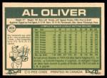 1977 O-Pee-Chee #203  Al Oliver  Back Thumbnail