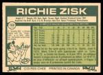 1977 O-Pee-Chee #152  Richie Zisk  Back Thumbnail