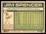 1977 O-Pee-Chee #46  Jim Spencer  Back Thumbnail