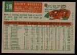 1959 Topps #318  Rocky Bridges  Back Thumbnail