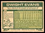 1977 O-Pee-Chee #259  Dwight Evans  Back Thumbnail