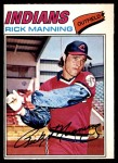 1977 O-Pee-Chee #190  Rick Manning  Front Thumbnail