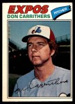 1977 O-Pee-Chee #18  Don Carrithers  Front Thumbnail