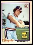 1978 O-Pee-Chee #208  Bump Wills  Front Thumbnail