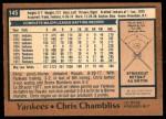 1978 O-Pee-Chee #145  Chris Chambliss  Back Thumbnail