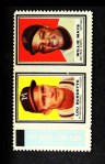 1962 Topps Stamp Panels  Lew Burdette / Willie Mays  Front Thumbnail