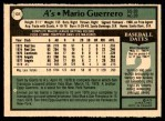 1979 O-Pee-Chee #131  Mario Guerrero  Back Thumbnail
