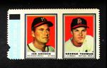 1962 Topps Stamp Panels  Joe Adcock / George Thomas  Front Thumbnail