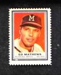 1962 Topps Stamps  Eddie Mathews  Front Thumbnail