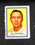 1962 Topps Stamps  Gil Hodges  Front Thumbnail
