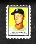 1962 Topps Stamps  Jim Bunning  Front Thumbnail