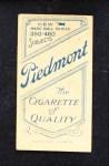 1909 T206 FLD Al Burch  Back Thumbnail