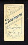 1909 T206  Perry Lipe  Back Thumbnail