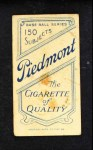 1909 T206 ABV George Bell  Back Thumbnail