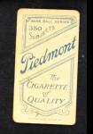 1909 T206 KC Carl Lundgren  Back Thumbnail