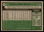 1979 Topps #667  Don Hood  Back Thumbnail