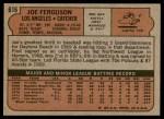1972 Topps #616  Joe Ferguson  Back Thumbnail