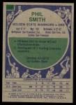 1975 Topps #139  Phil Smith  Back Thumbnail