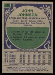 1975 Topps #147  John Johnson  Back Thumbnail