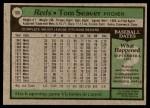 1979 Topps #100  Tom Seaver  Back Thumbnail
