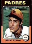 1975 Topps #643  Brent Strom  Front Thumbnail