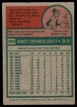 1975 Topps #365  Bob Bailey  Back Thumbnail