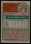 1975 Topps #613  Bill Parsons  Back Thumbnail
